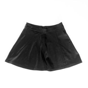 H&M Divided Black Faux Leather Skirt Size 6